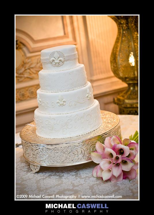 New Orleans Wedding Cake Photo