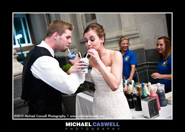 snowball stand at new orleans wedding photo