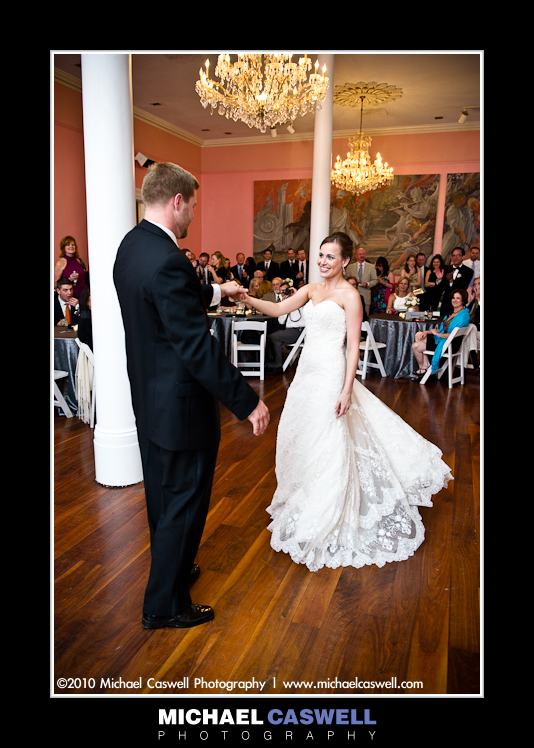 photo of gallier hall wedding reception