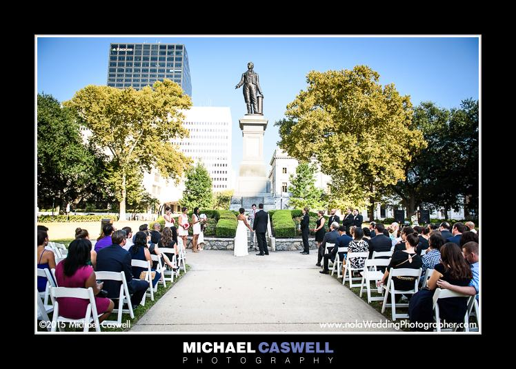 Wedding In Lafayette Square New Orleans