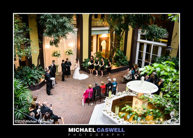 Wedding Ceremony In Hotel Mazarin Courtyard