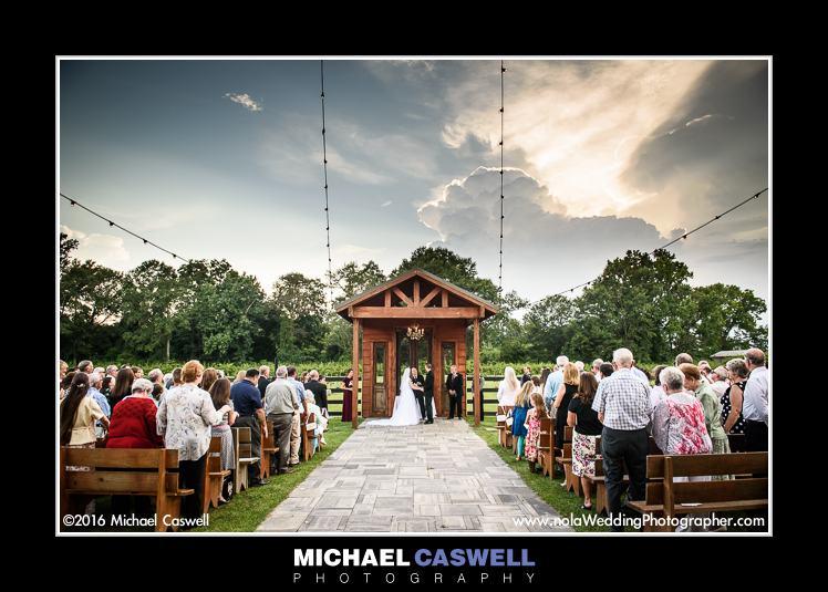 Berry Barn Wedding Ceremony in Amite Louisiana