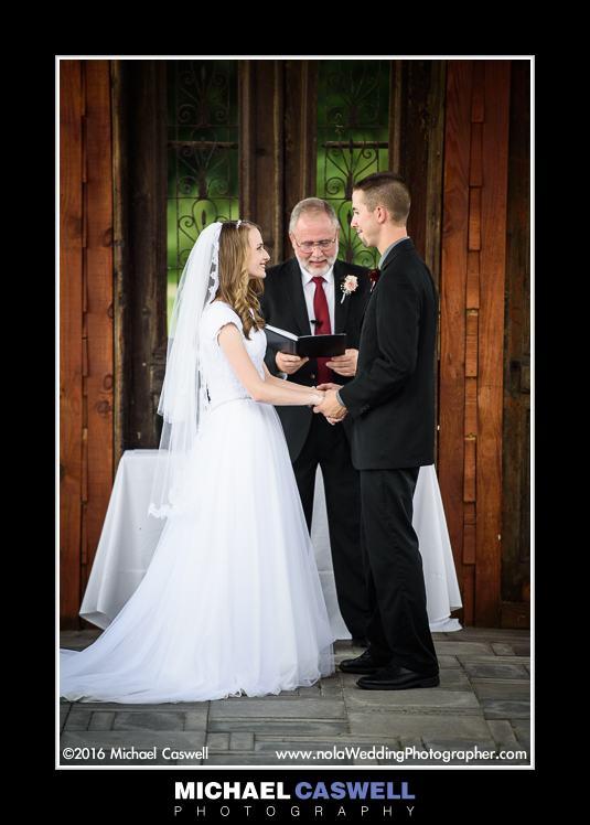 Wedding ceremony at Berry Barn
