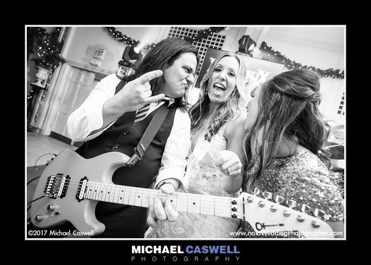 Bride with Mojeaux guitarist