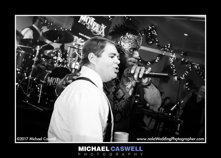 Groom sings with Mojeaux