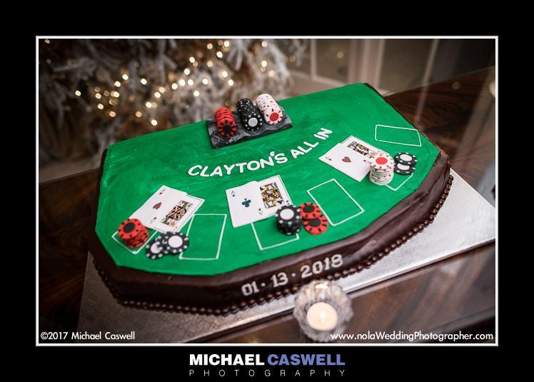 Poker table wedding cake