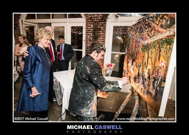 Alex Harvie paints reception