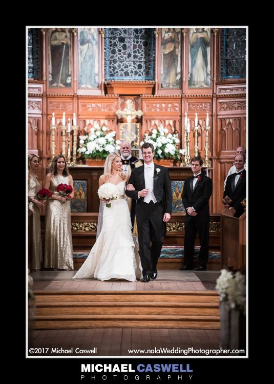 Married couple at end of ceremony