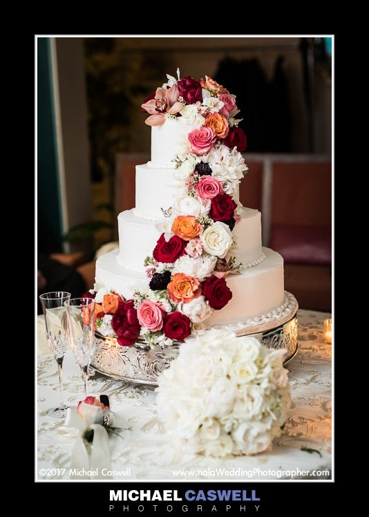 Swiss Confectionary New Orleans wedding cake