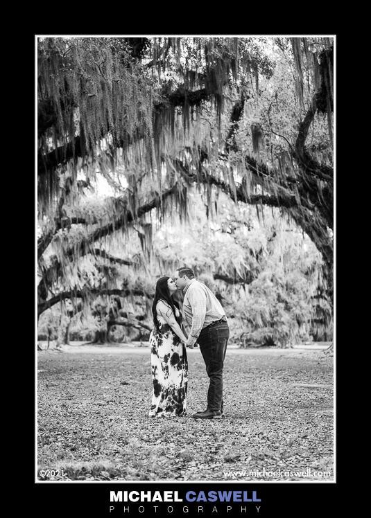 Meredith & Steven's Engagement Portrait at Fontainebleau State Park